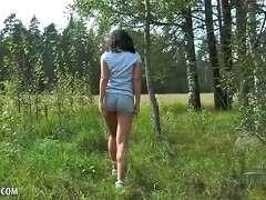 Wald frau nackt im Sex Im